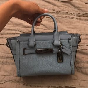 Coach swagger 20 in baby blue